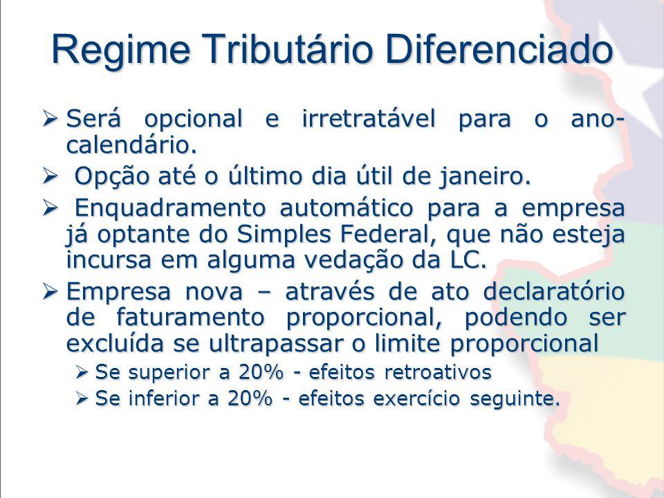 Regime Tributário Diferenciado