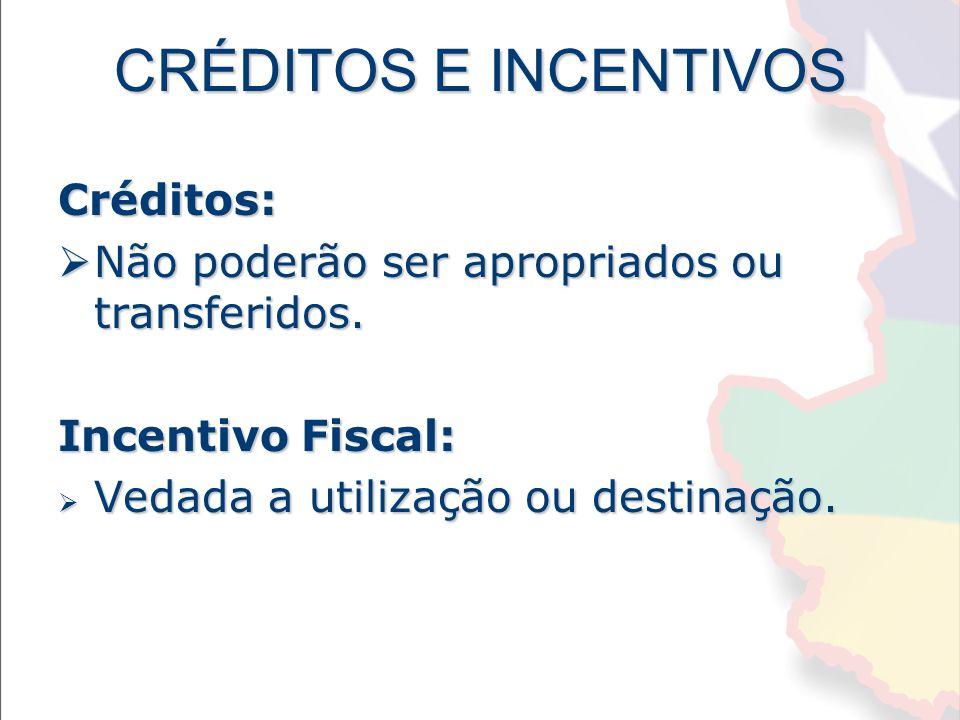 CRÉDITOS E INCENTIVOS Créditos: