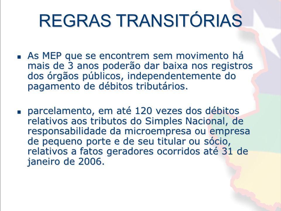 REGRAS TRANSITÓRIAS