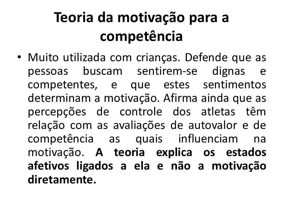 Teoria da motivação para a competência