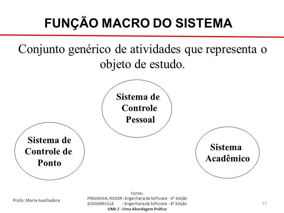 Conjunto genérico de atividades que representa o objeto de estudo.
