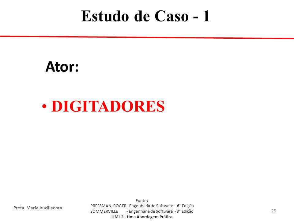 Estudo de Caso - 1 Ator: DIGITADORES