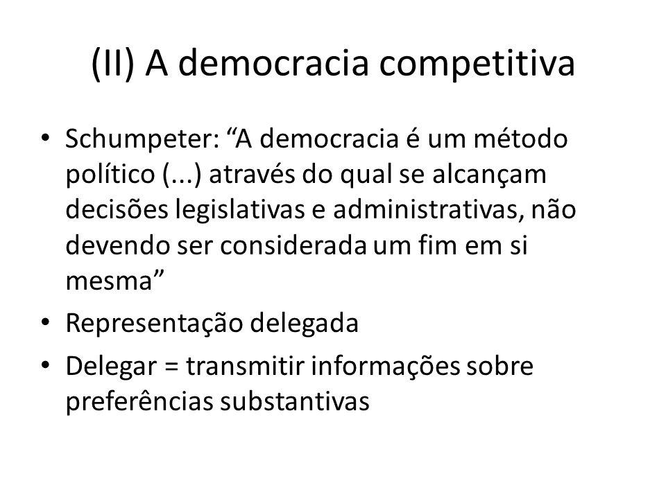(II) A democracia competitiva