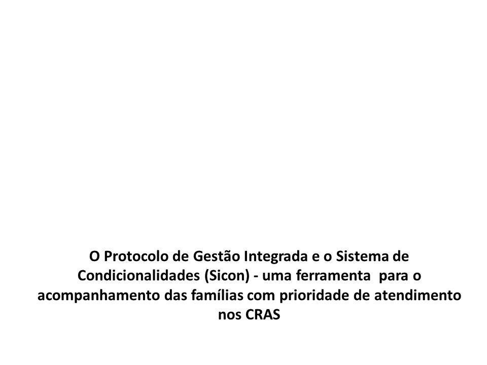 O Protocolo de Gestão Integrada e o Sistema de Condicionalidades (Sicon) - uma ferramenta para o acompanhamento das famílias com prioridade de atendimento nos CRAS