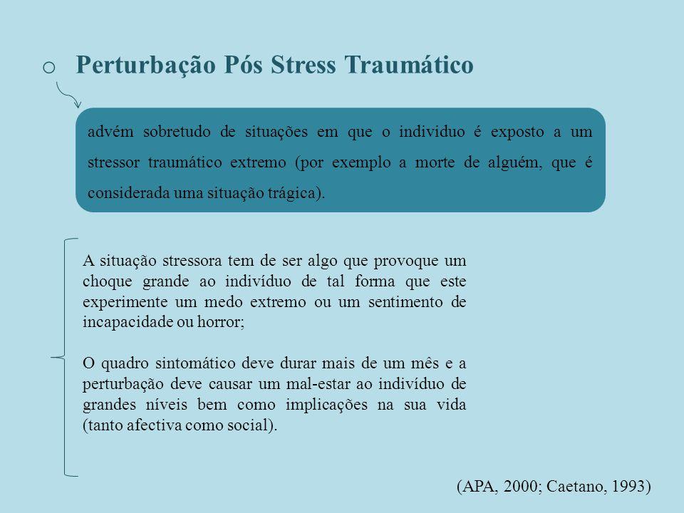Perturbação Pós Stress Traumático