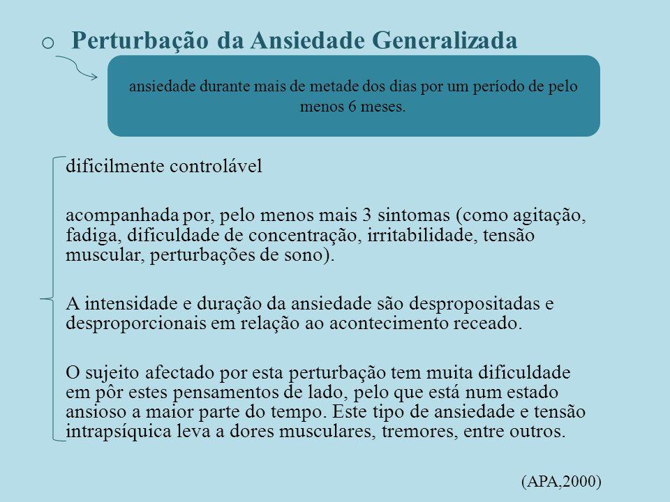 Perturbação da Ansiedade Generalizada