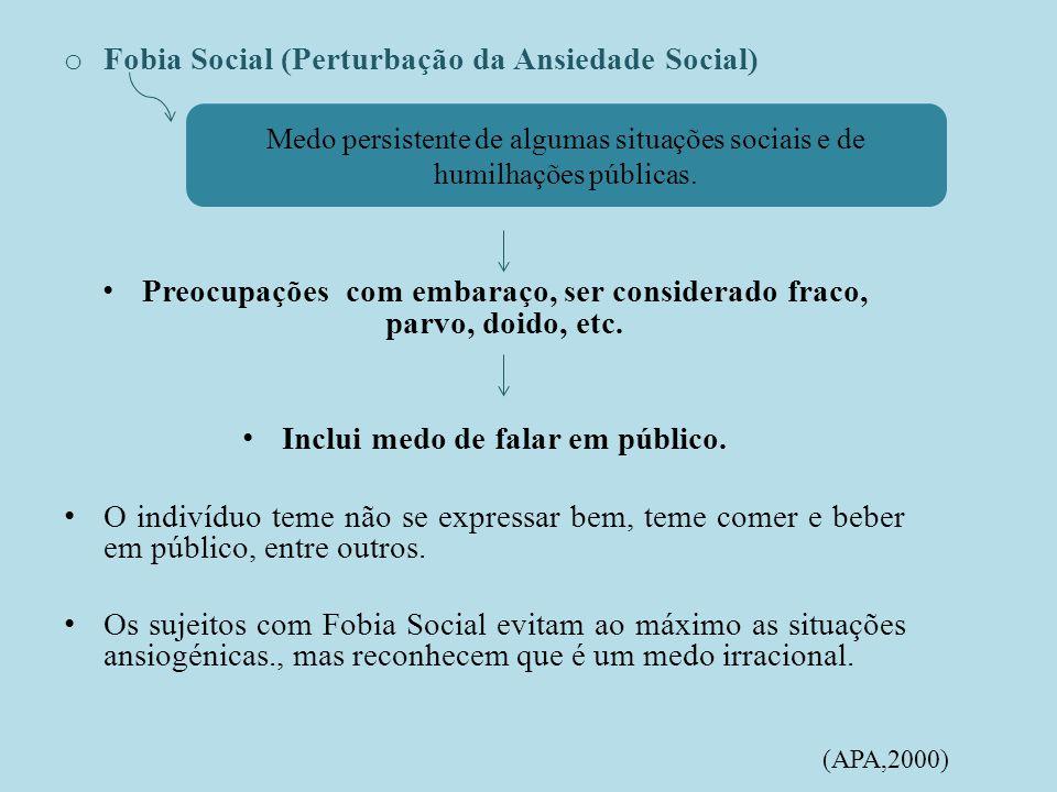 Fobia Social (Perturbação da Ansiedade Social)