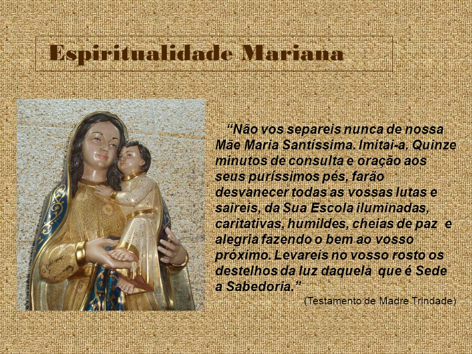 Espiritualidade Mariana
