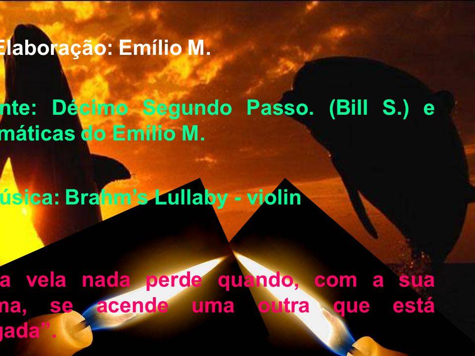 Fonte: Décimo Segundo Passo. (Bill S.) e Temáticas do Emílio M.