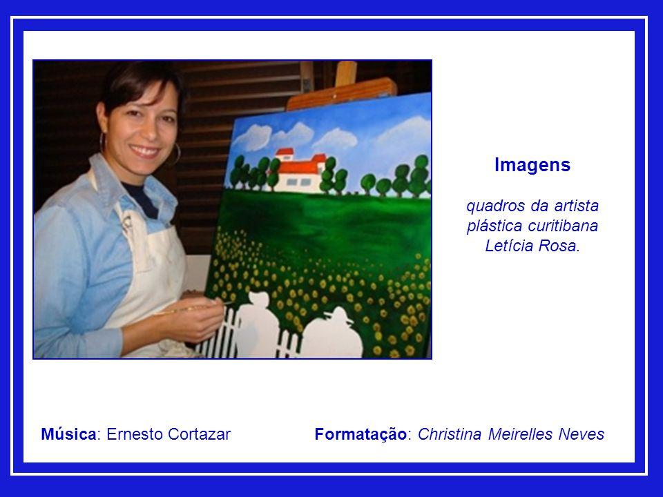 quadros da artista plástica curitibana Letícia Rosa.