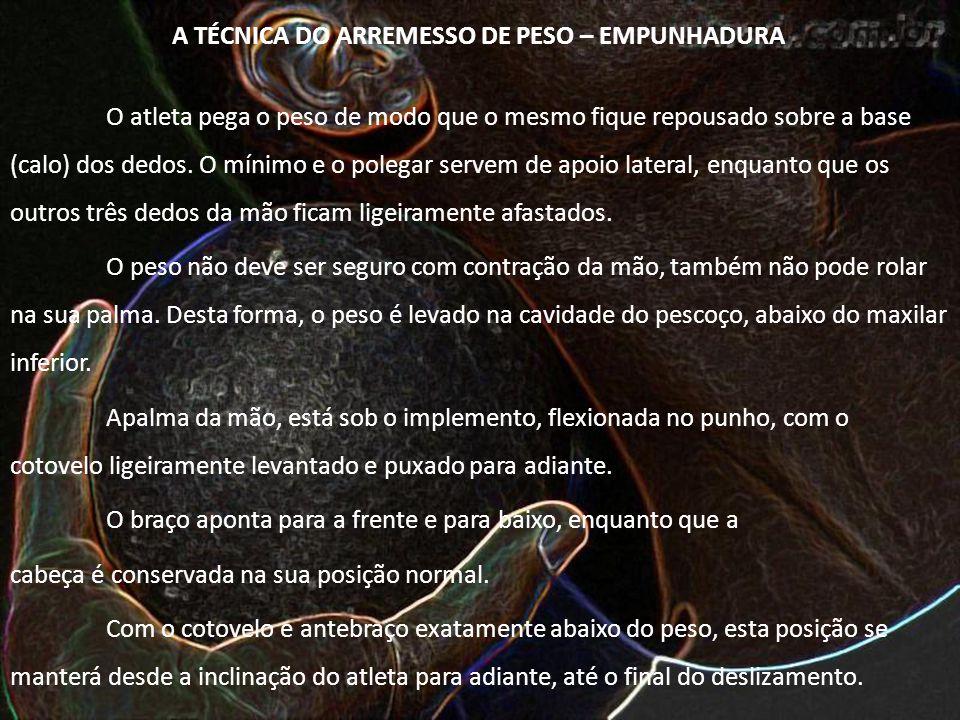 A TÉCNICA DO ARREMESSO DE PESO – EMPUNHADURA
