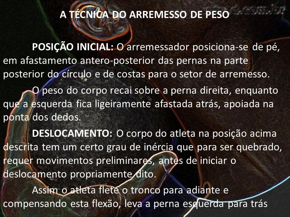 A TÉCNICA DO ARREMESSO DE PESO