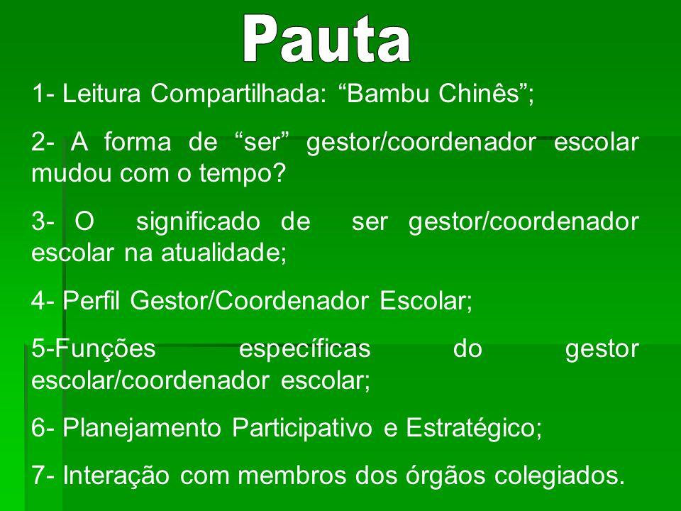 Pauta 1- Leitura Compartilhada: Bambu Chinês ;