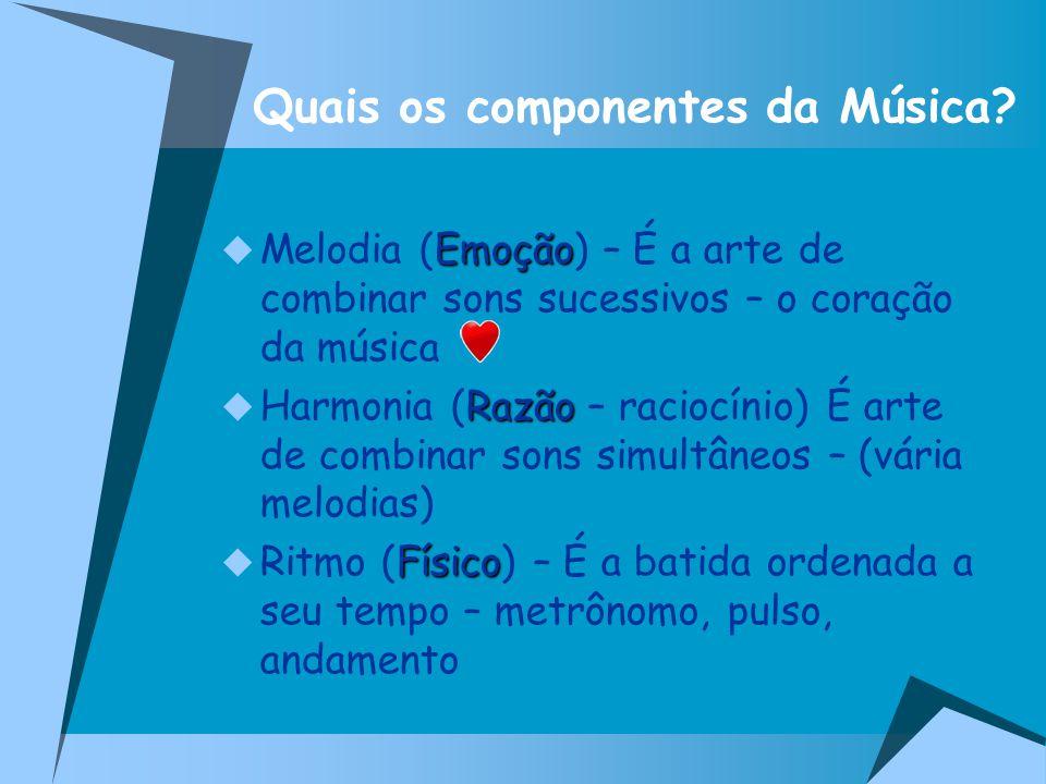 Quais os componentes da Música