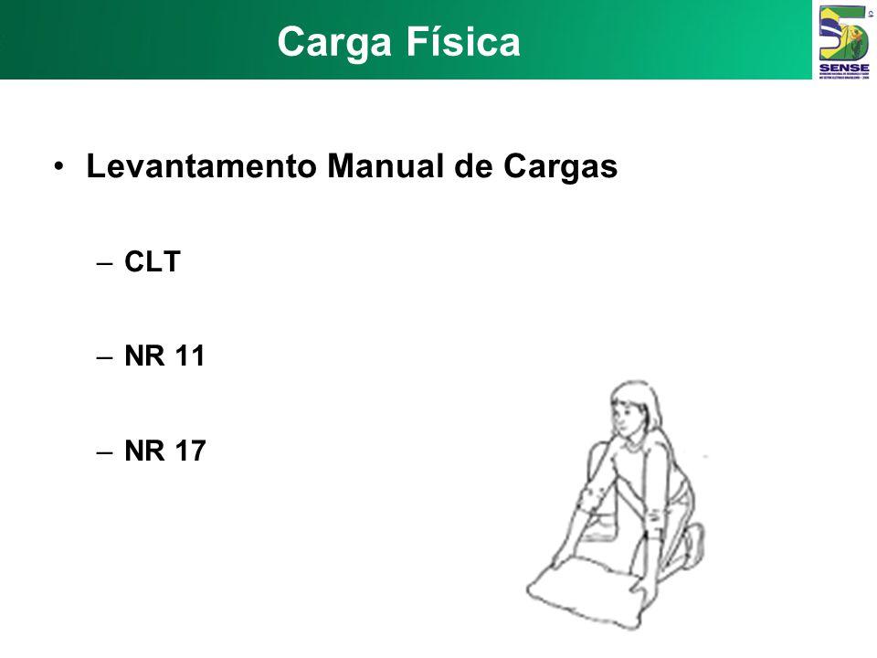 Carga Física Levantamento Manual de Cargas CLT NR 11 NR 17