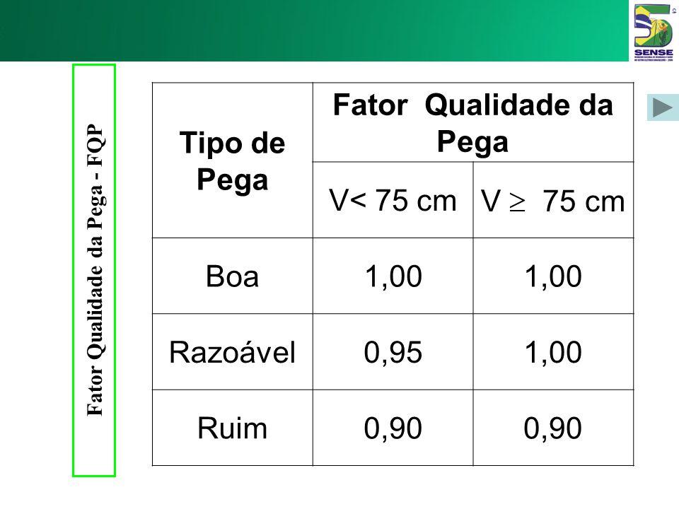 Fator Qualidade da Pega - FQP Fator Qualidade da Pega