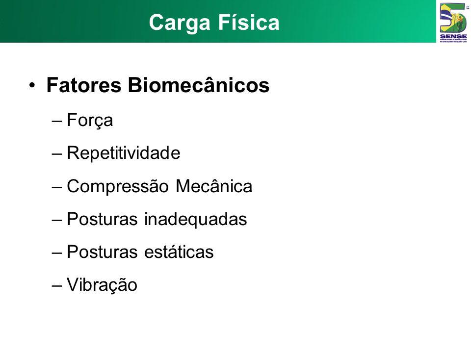 Carga Física Fatores Biomecânicos Força Repetitividade