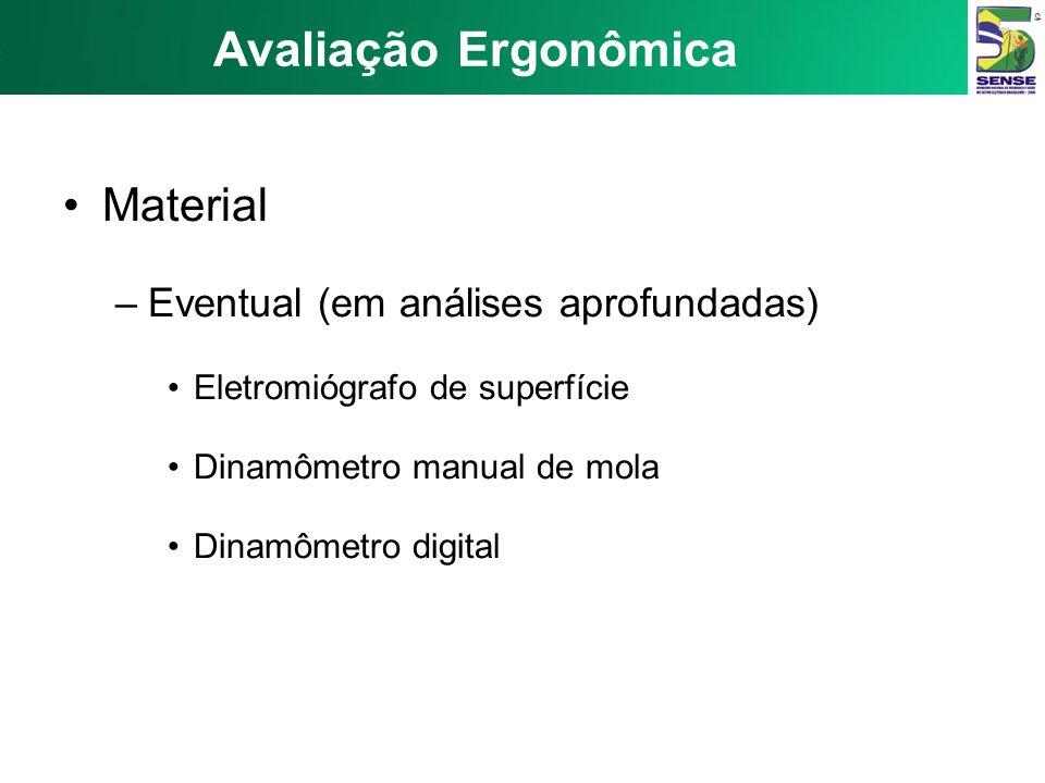 Avaliação Ergonômica Material Eventual (em análises aprofundadas)