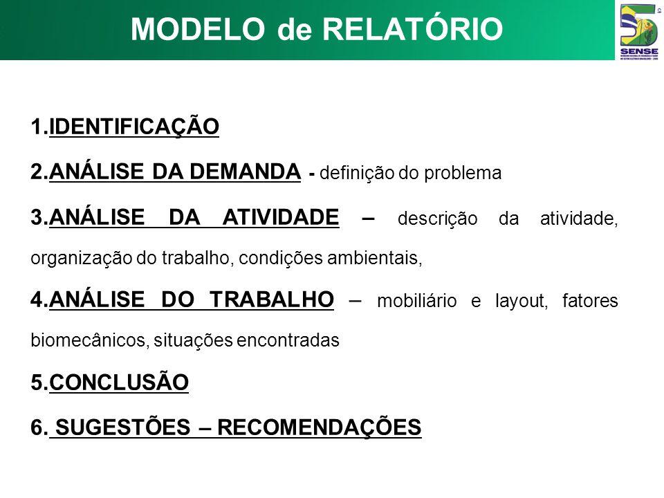 MODELO de RELATÓRIO IDENTIFICAÇÃO