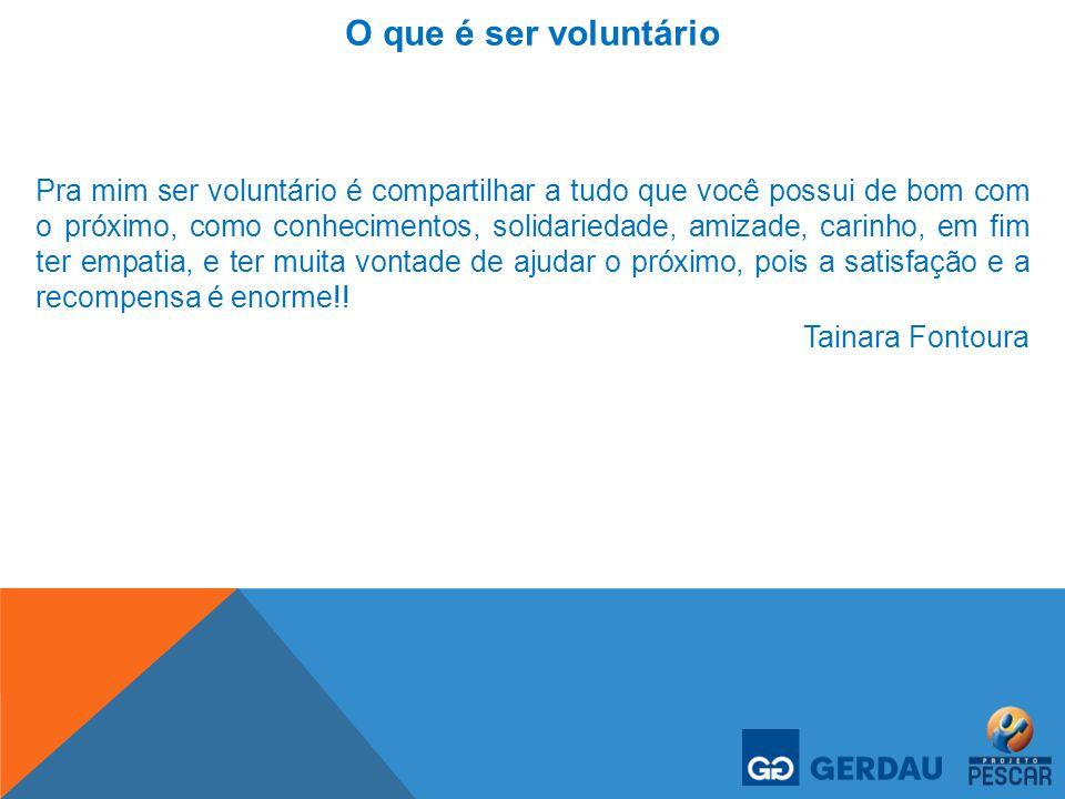 O que é ser voluntário
