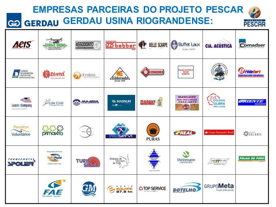 Empresas parceiras do Projeto Pescar Gerdau Usina Riograndense: