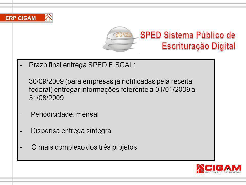 Prazo final entrega SPED FISCAL: