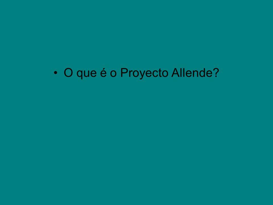 O que é o Proyecto Allende