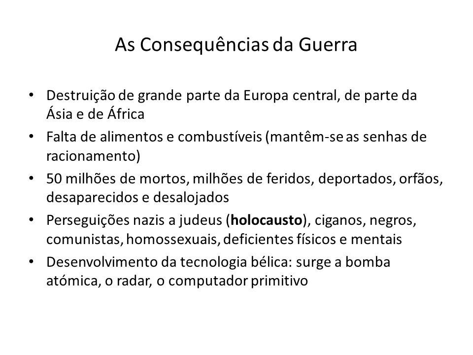 As Consequências da Guerra