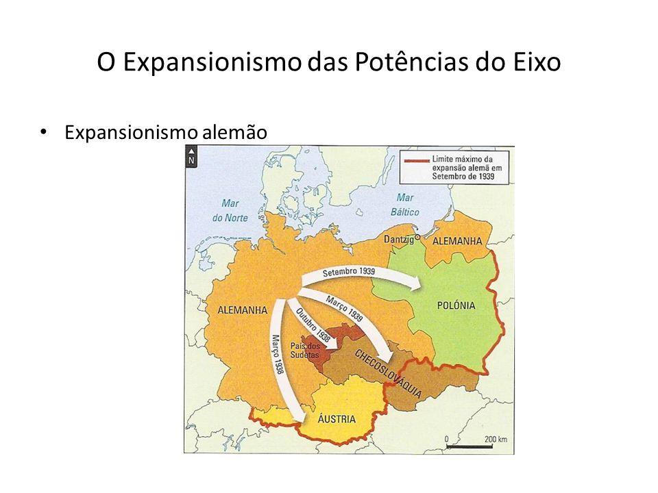 O Expansionismo das Potências do Eixo