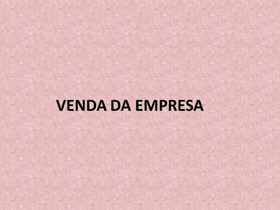 VENDA DA EMPRESA