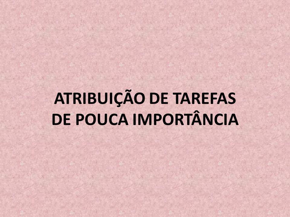 ATRIBUIÇÃO DE TAREFAS DE POUCA IMPORTÂNCIA