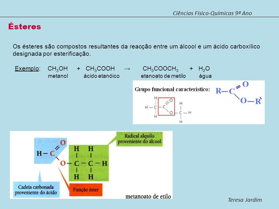Ésteres Ciências Físico-Químicas 9º Ano