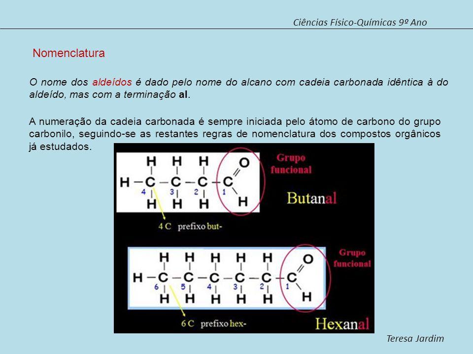 Nomenclatura Ciências Físico-Químicas 9º Ano