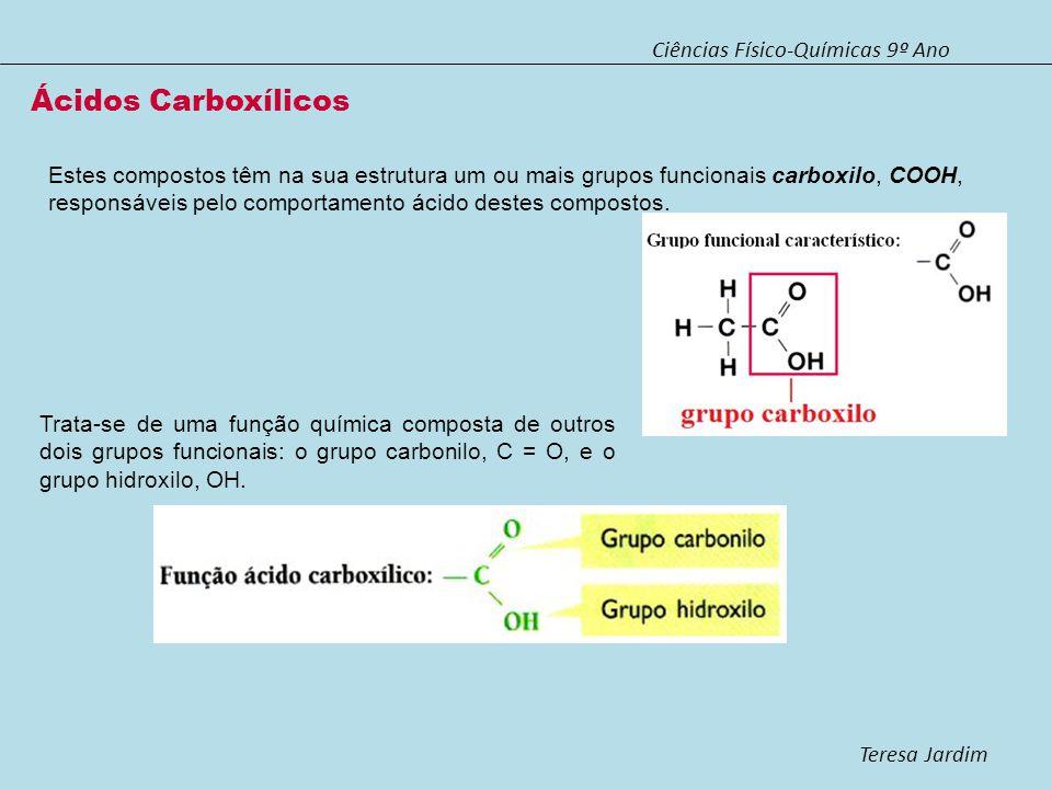 Ácidos Carboxílicos Ciências Físico-Químicas 9º Ano