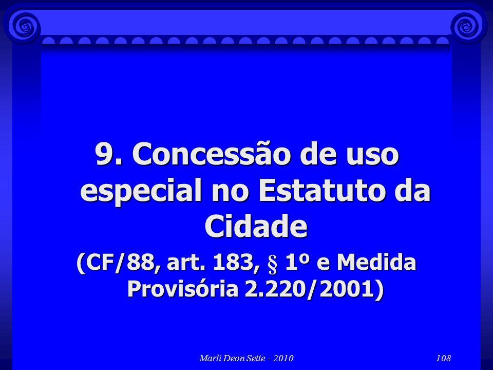 9. Concessão de uso especial no Estatuto da Cidade
