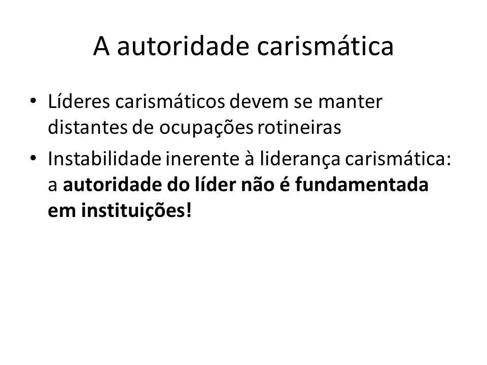 A autoridade carismática
