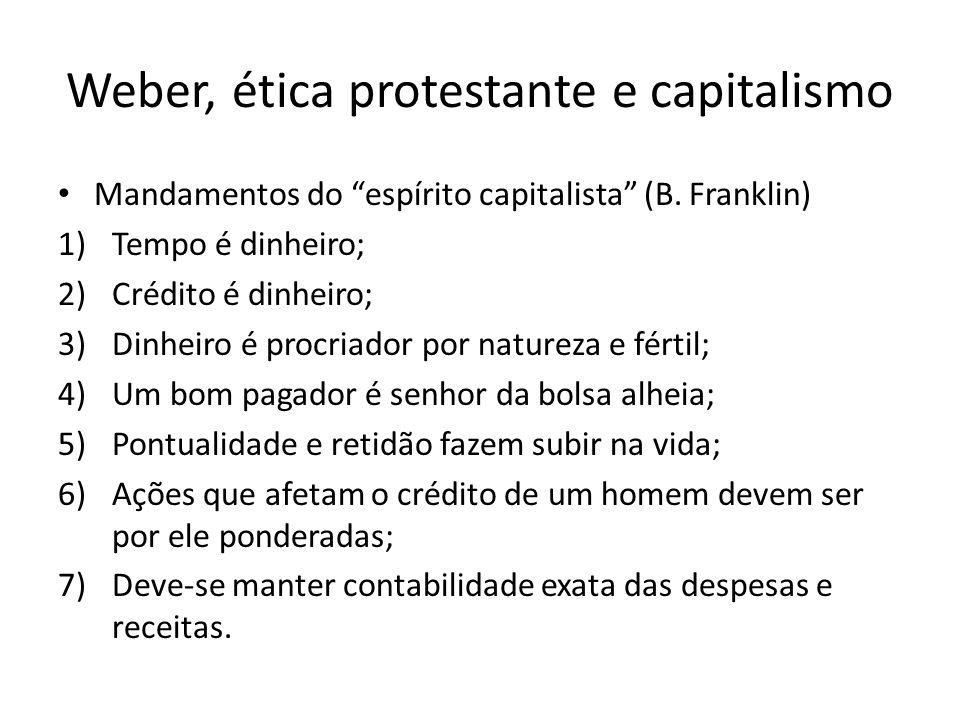 Weber, ética protestante e capitalismo