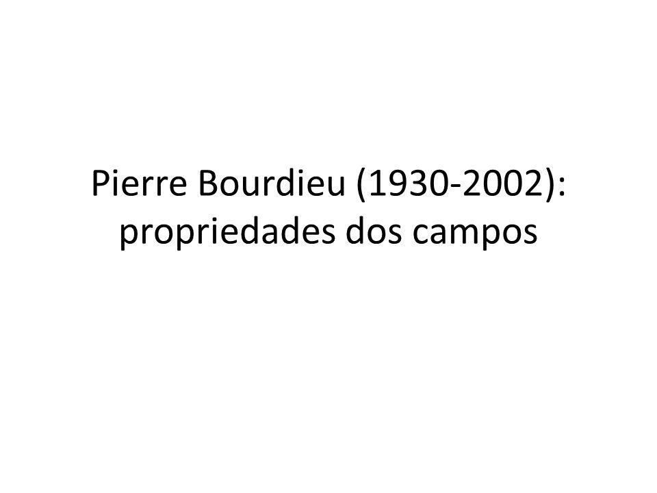 Pierre Bourdieu (1930-2002): propriedades dos campos