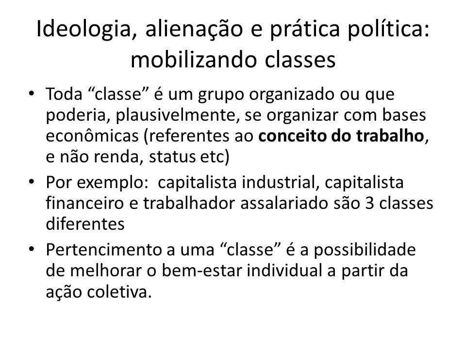 Ideologia, alienação e prática política: mobilizando classes