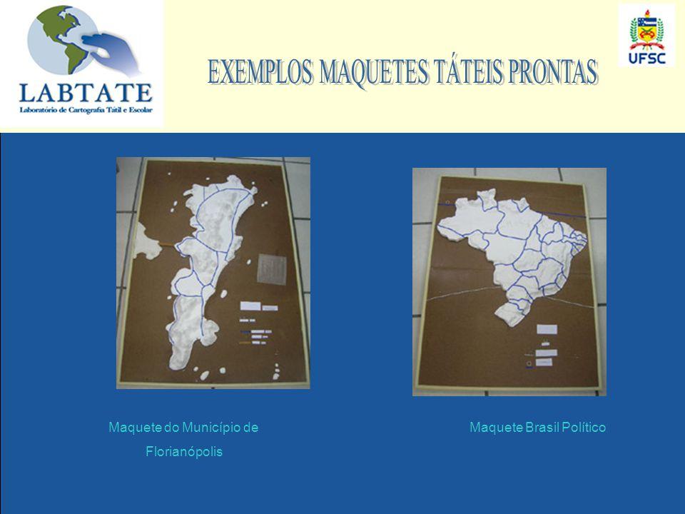 EXEMPLOS MAQUETES TÁTEIS PRONTAS