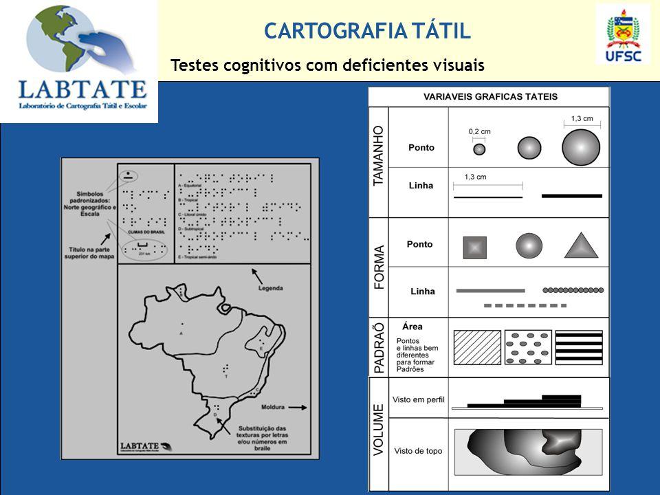 CARTOGRAFIA TÁTIL Testes cognitivos com deficientes visuais