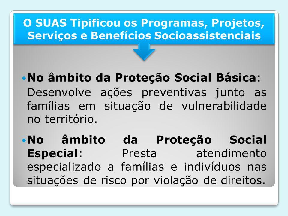 No âmbito da Proteção Social Básica: