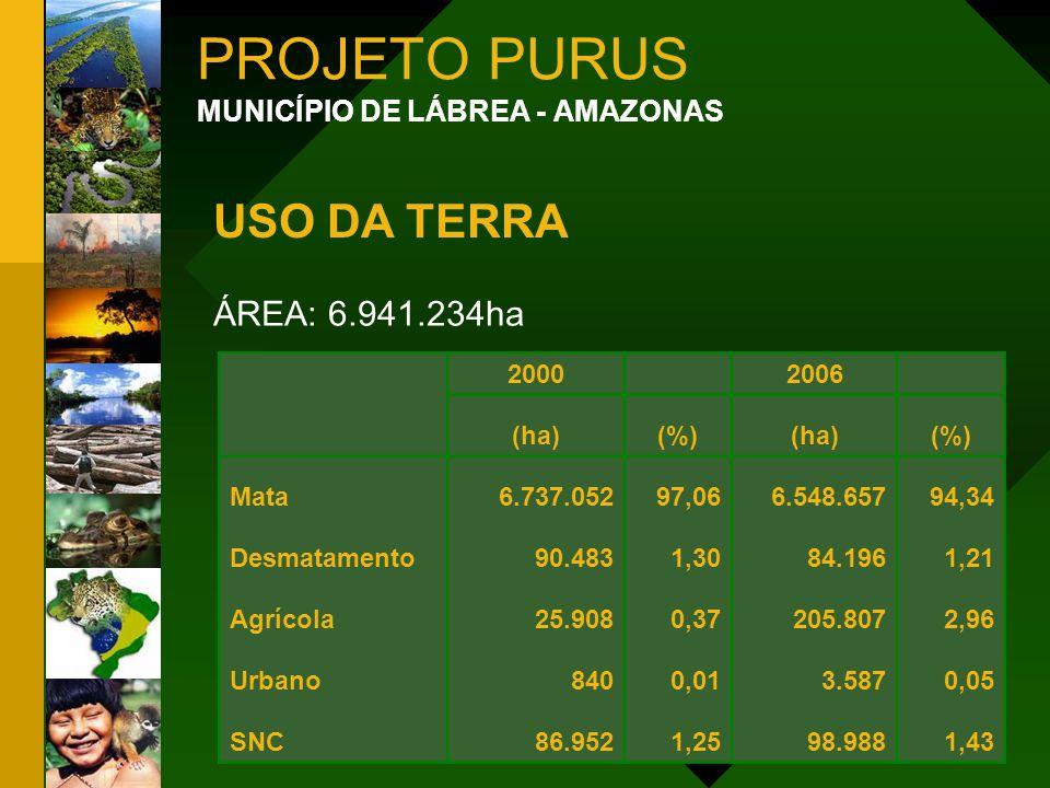 PROJETO PURUS USO DA TERRA ÁREA: 6.941.234ha