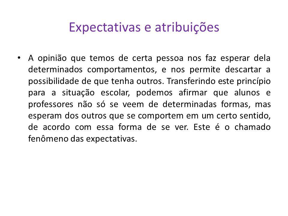 Expectativas e atribuições