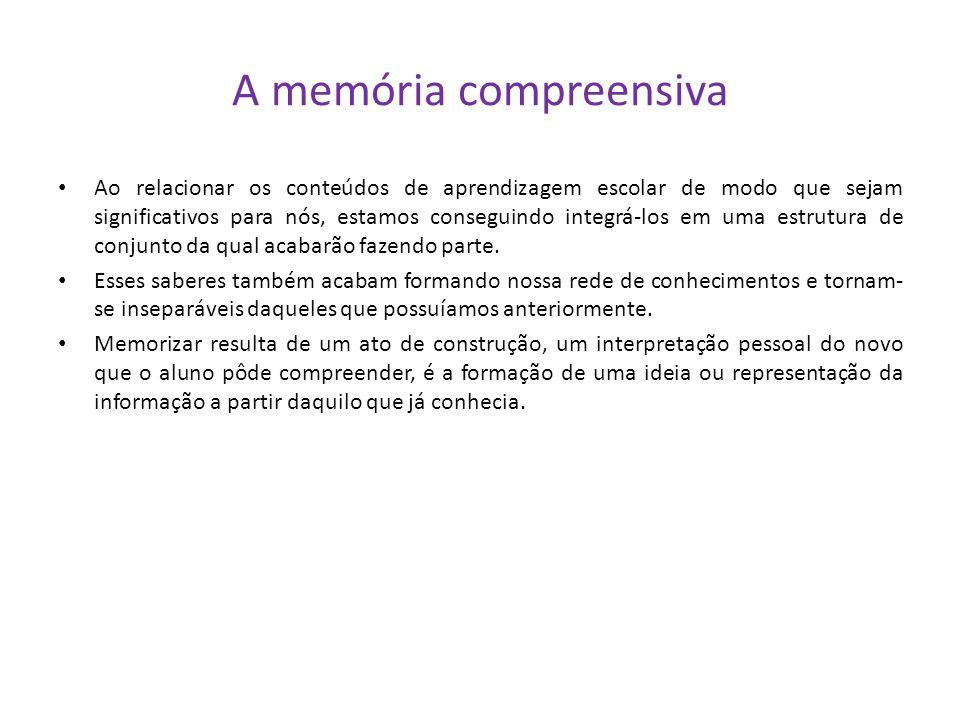 A memória compreensiva