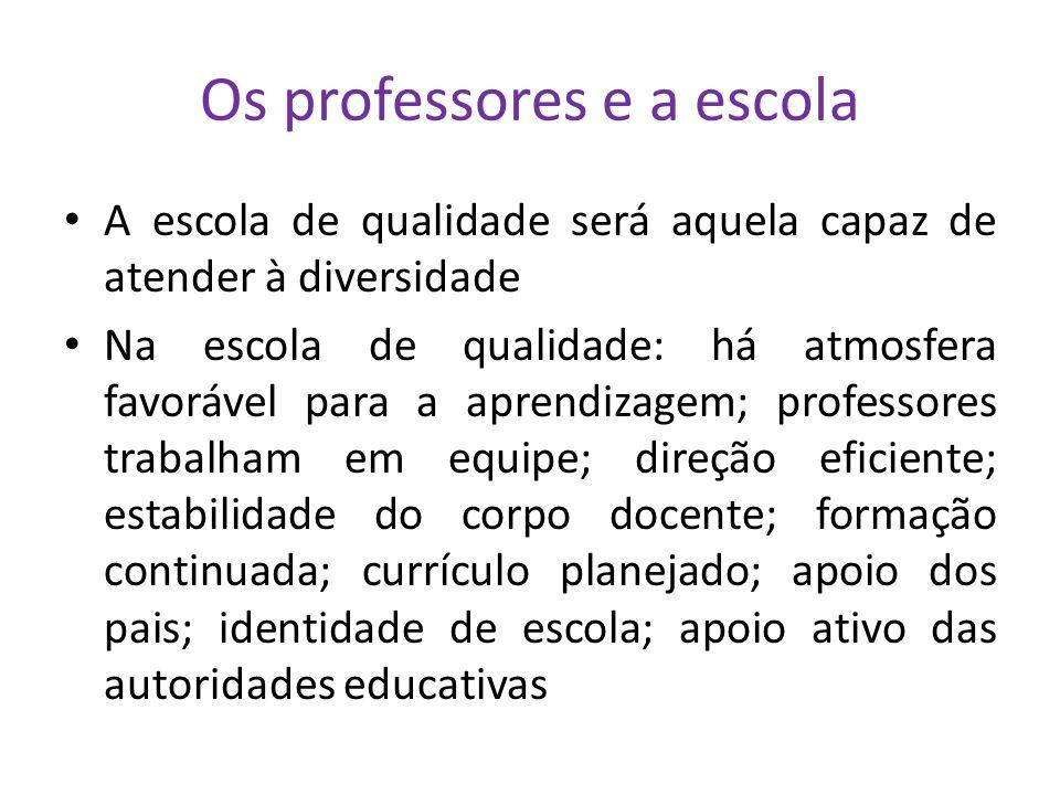 Os professores e a escola