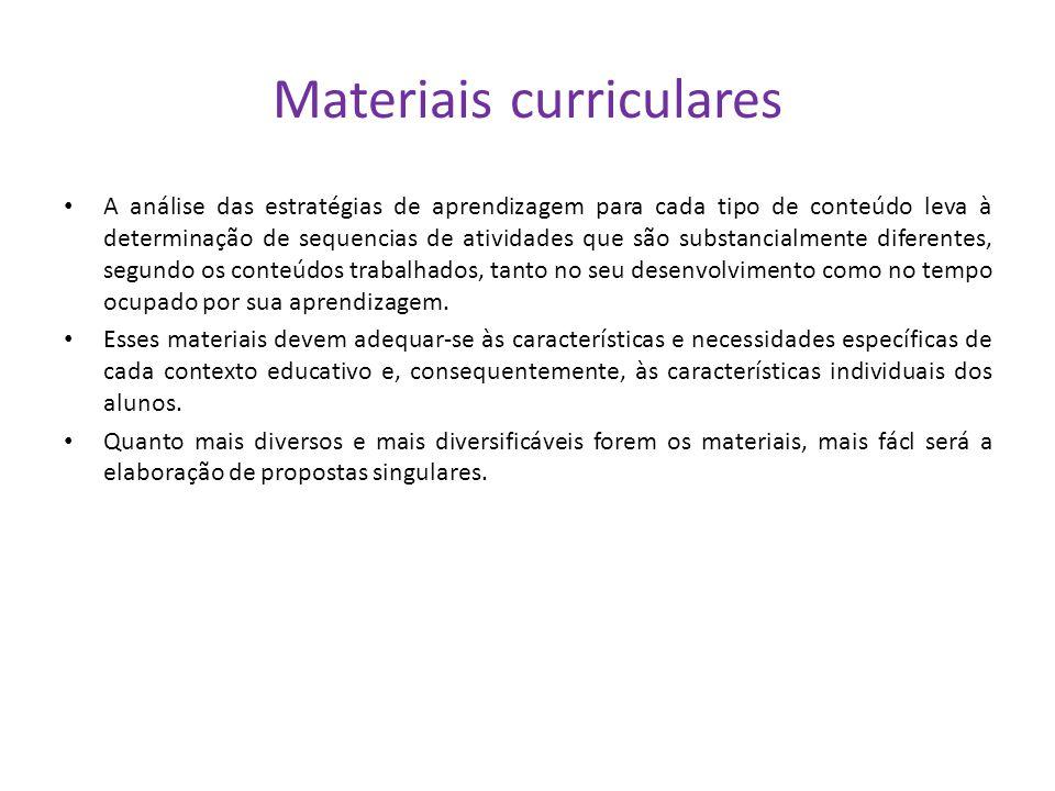 Materiais curriculares