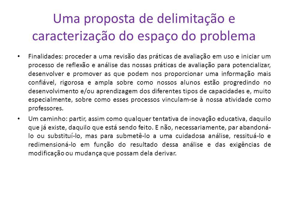 Uma proposta de delimitação e caracterização do espaço do problema