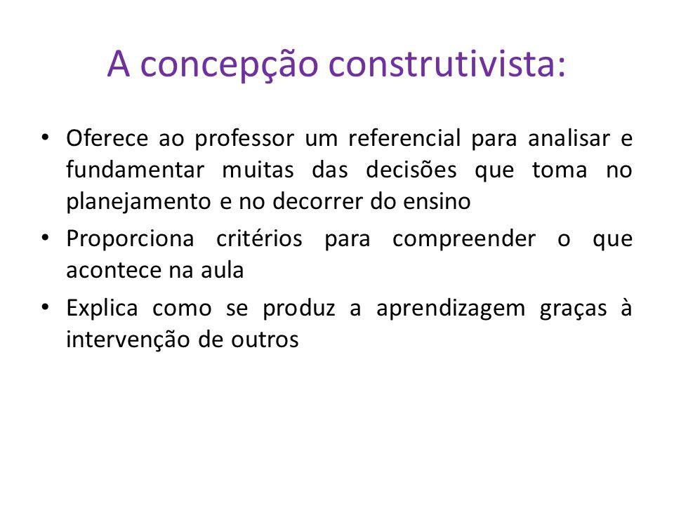 A concepção construtivista: