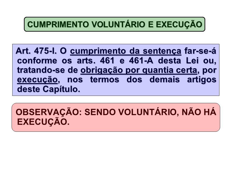 OBSERVAÇÃO: SENDO VOLUNTÁRIO, NÃO HÁ EXECUÇÃO.